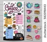 coffee restaurant brochure... | Shutterstock .eps vector #582098443