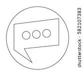 speech bubble icon | Shutterstock .eps vector #582107383