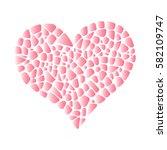 isolated vector mosaic heart .... | Shutterstock .eps vector #582109747