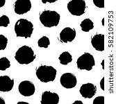 black and white seamless dot... | Shutterstock .eps vector #582109753