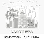 vancouver city skyline. linear... | Shutterstock .eps vector #582111367