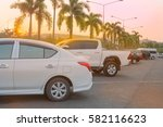 lot of cars parked in outdoor... | Shutterstock . vector #582116623