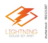 logo power of lightning | Shutterstock .eps vector #582121387