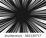 sun rays for comic books radial ... | Shutterstock .eps vector #582130717