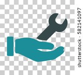 wrench service hand vector icon.... | Shutterstock .eps vector #582141097