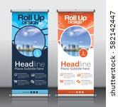 roll up brochure flyer banner... | Shutterstock .eps vector #582142447