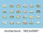 city buildings set. all kinds... | Shutterstock .eps vector #582163087