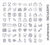 business icons set. different... | Shutterstock . vector #582163093