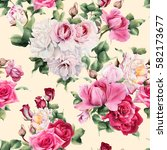 seamless floral pattern with... | Shutterstock . vector #582173677