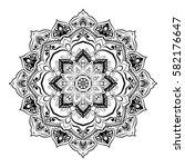 mandala. round ornament pattern.... | Shutterstock .eps vector #582176647