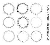 collection  of flower  frames.... | Shutterstock .eps vector #582177643