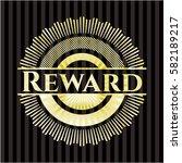reward gold badge or emblem | Shutterstock .eps vector #582189217