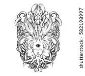 vector illustration of fortune... | Shutterstock .eps vector #582198997