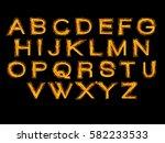 alphabet gold | Shutterstock .eps vector #582233533