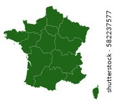 map of france | Shutterstock .eps vector #582237577