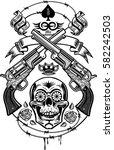 guns and roses | Shutterstock .eps vector #582242503