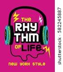 new york rhythm of life t shirt ... | Shutterstock .eps vector #582245887