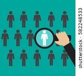 search man vector icon. job... | Shutterstock .eps vector #582248533
