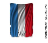 torn by the wind national flag... | Shutterstock .eps vector #582253393