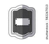 emblem plaque inside shield... | Shutterstock .eps vector #582267013