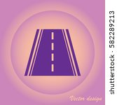 road icon | Shutterstock .eps vector #582289213
