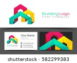 building corporate logo and... | Shutterstock .eps vector #582299383