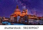night cityscape view on santa...   Shutterstock . vector #582309067