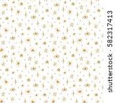 starry sky background. hand... | Shutterstock .eps vector #582317413