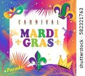mardi gras carnival  festival ... | Shutterstock .eps vector #582321763