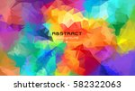 abstract multicolored polygon