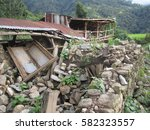 destruction after earthquake in ... | Shutterstock . vector #582323557