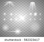 glowing lights  stars and... | Shutterstock .eps vector #582323617