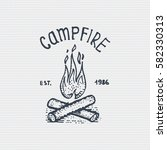 vintage old logo or badge ... | Shutterstock .eps vector #582330313