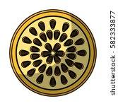 fresh fruit slice isolated icon   Shutterstock .eps vector #582333877