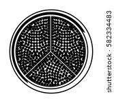 fresh fruit slice isolated icon   Shutterstock .eps vector #582334483