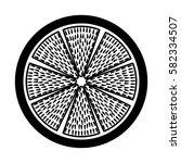 fresh fruit slice isolated icon   Shutterstock .eps vector #582334507