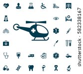 medical helicopter  medical set ... | Shutterstock .eps vector #582338167
