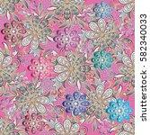 floral vector seamless pattern. ... | Shutterstock .eps vector #582340033