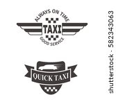 taxi badge car service business ... | Shutterstock .eps vector #582343063