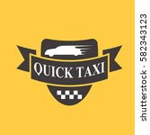 taxi badge car service business ... | Shutterstock .eps vector #582343123