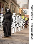 Small photo of Calgary, Alberta, Canada, April 29 2016: Comic and Entertainment Expo Parade Sith Lord Darth Nihilus