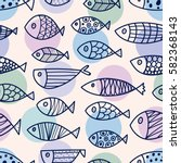 line fish. vector seamless... | Shutterstock .eps vector #582368143