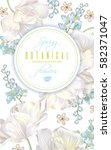 vector spring flower round...   Shutterstock .eps vector #582371047