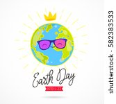 april 22. earth day. the trend... | Shutterstock .eps vector #582383533