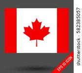 flag of canada. maple leaf.... | Shutterstock .eps vector #582385057