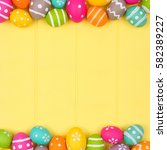 colorful easter egg double... | Shutterstock . vector #582389227