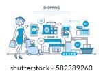 modern shopping  online... | Shutterstock .eps vector #582389263