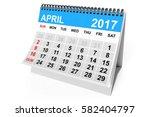 2017 Year Calendar. April...