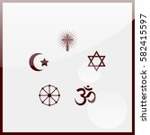 religion signs. | Shutterstock .eps vector #582415597