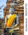 old pagoda at thailand | Shutterstock . vector #582415753